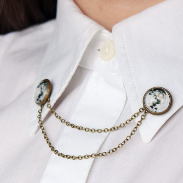 Dicas de colarinho;  clipes para colarinho de camisa;  pino da lua
