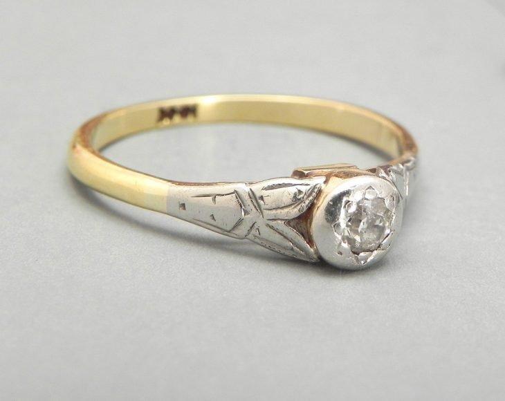 anel vintage minimalista