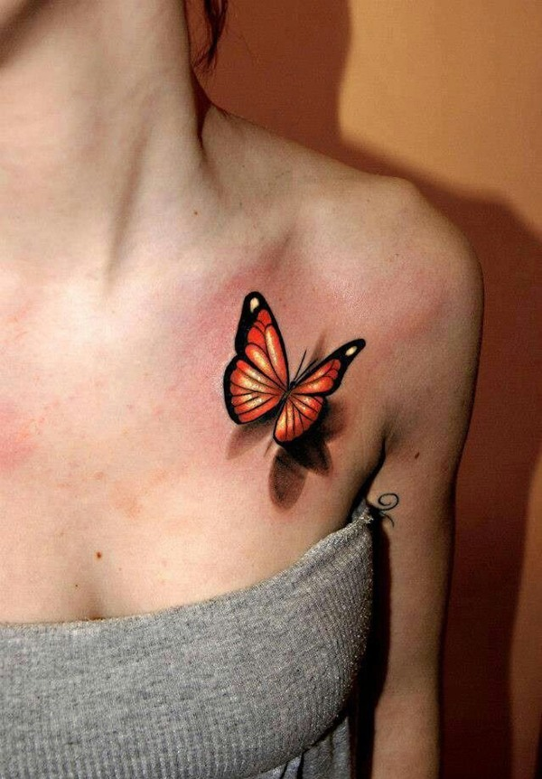 photos-of-tattoos-3d-butterfly-color