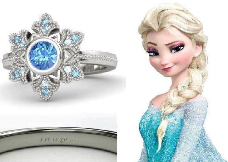 anel de senhora azul