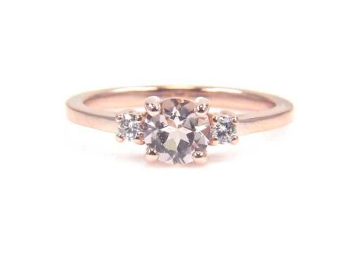 anel de noivado ouro rosa 8