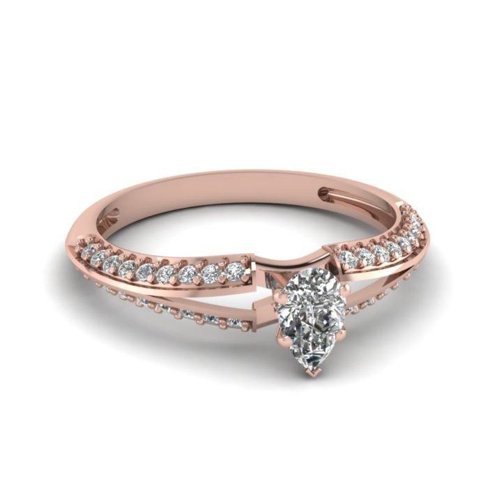 anel de noivado ouro rosa 11