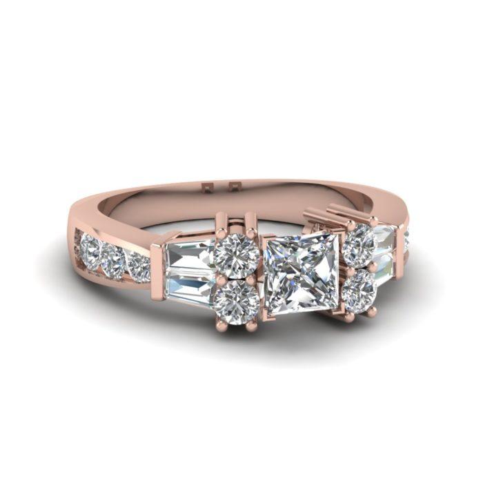 anel de noivado ouro rosa 10