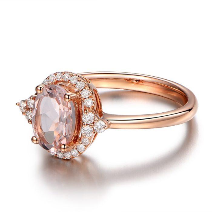 anel de noivado ouro rosa 13