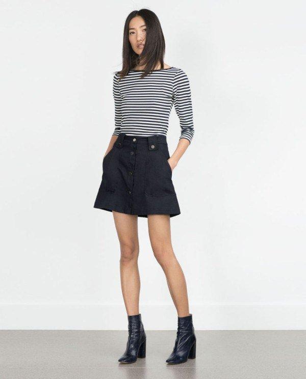 moda-outono-inverno-para-mulher camisetas e camisetas-CAMISAS-manga três quartos-zara